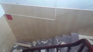 ốp tường nhựa chân cầu thang bản 25cm